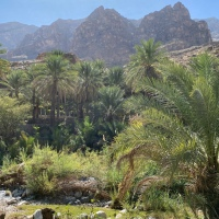 The Rocks and ruins of an ancient landscape - Wadi Bani Kharus, Oman ***