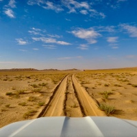 Driving to the edge of the Empty Quarter